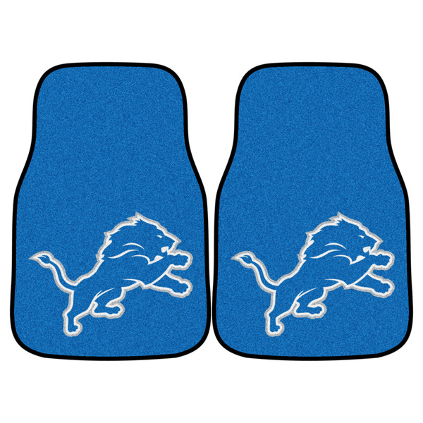 Detroit Lions NFL 2pc Carpeted Car Mats