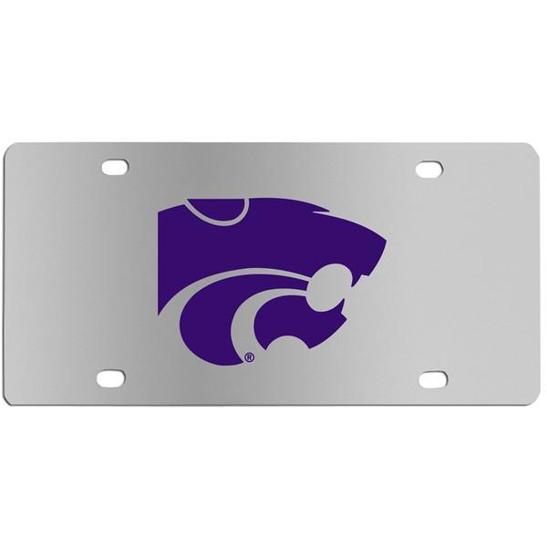 Kansas St. Wildcats Steel License Plate