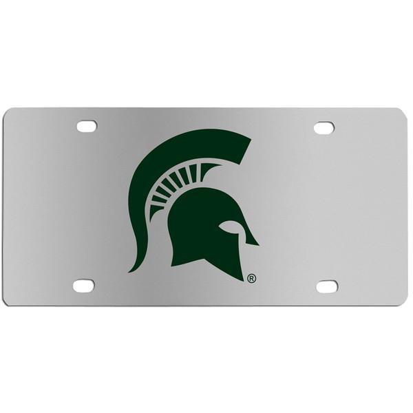 Michigan St. Spartans Steel License Plate