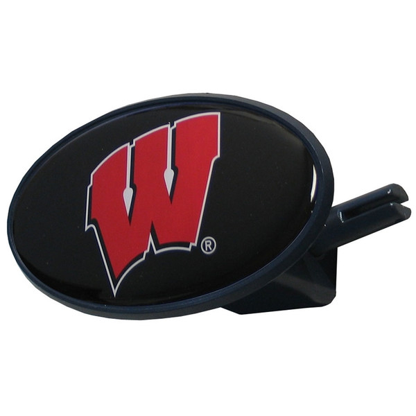 Wisconsin Badgers Plastic Hitch Cover Class III