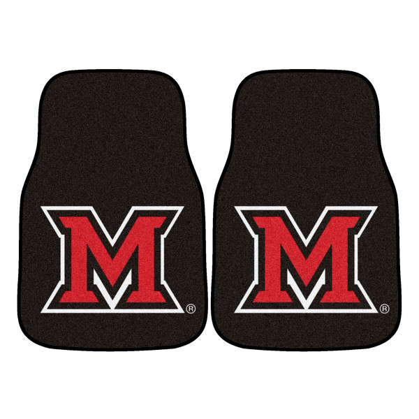 Miami (OH) 2pc Carpeted Car Mats