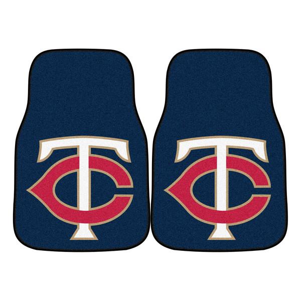FanMats Minnesota Twins MLB 2pc Carpeted Car Mats