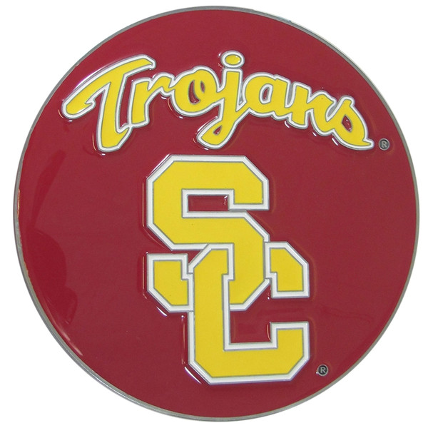 USC Trojans Hitch Cover Class II and Class III Met