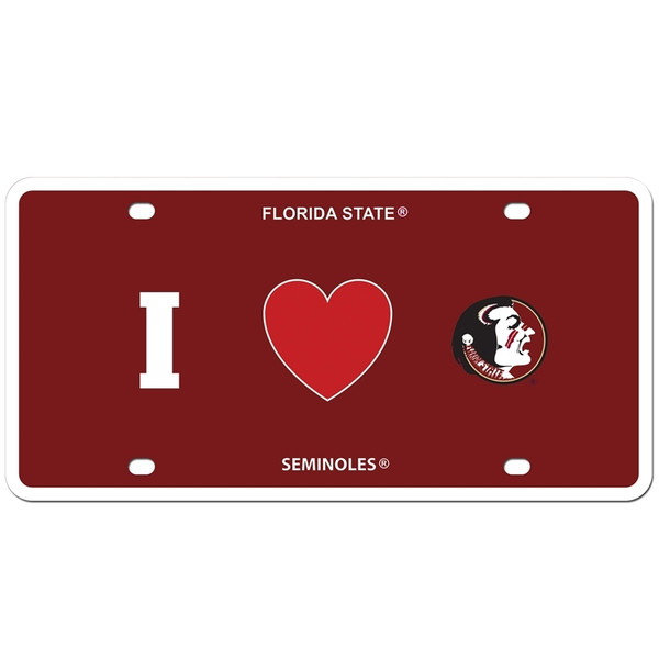 Florida St. Seminoles Styrene License Plate