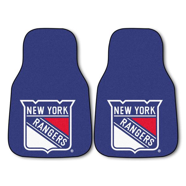 FanMats New York Rangers NHL 2pc Printed Carpet Car Mats