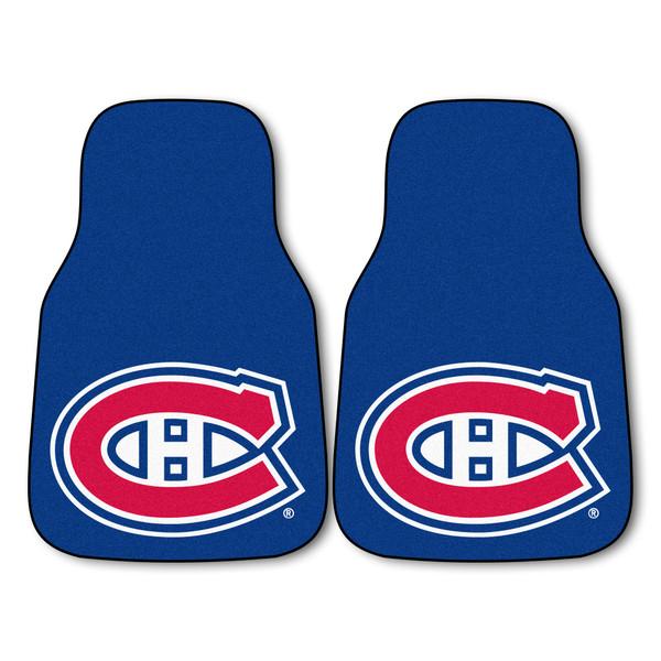 FanMats Montreal Canadiens NHL 2pc Printed Carpet Car Mats