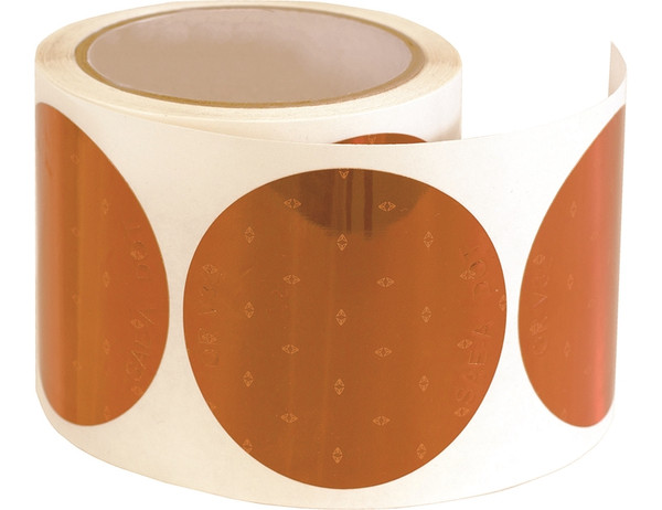 DOT Stick-On Reflector 100 per roll 3 Inch Round