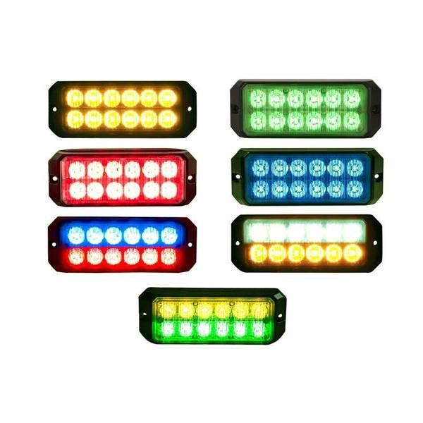 Strobe Light with 12 LEDs 5.19 Inch Rectangular