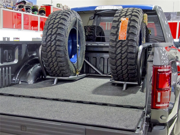 Bed Mounted Tire Carrier for Ford F-Series