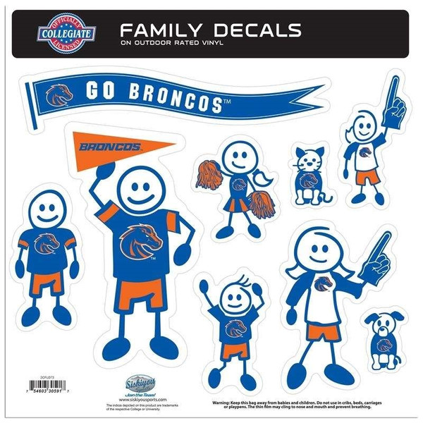 Boise St. Broncos Family Decal Set