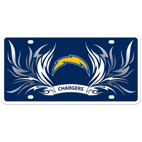 Los Angeles Chargers Styrene License Plate