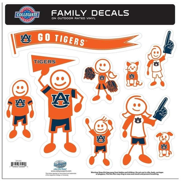 Auburn Tigers Family Decal Set