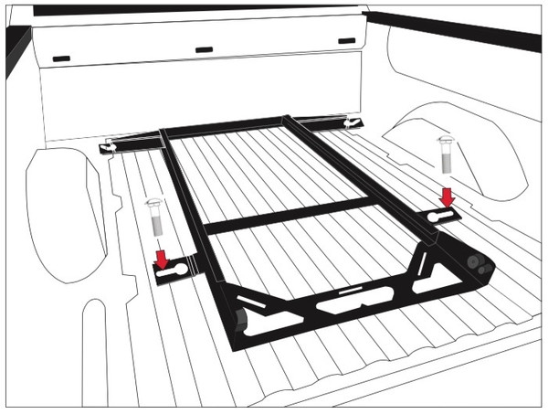 No Drill Installation Kit for Bedslide S and Classic Models