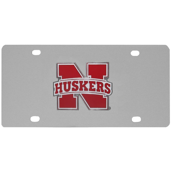 Nebraska Cornhuskers Steel License Plate