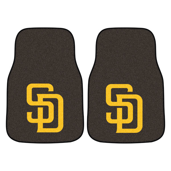 FanMats San Diego Padres MLB 2pc Carpeted Car Mats