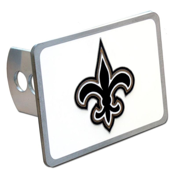 New Orleans Saints Hitch Cover Class II and Class III Metal Plugs
