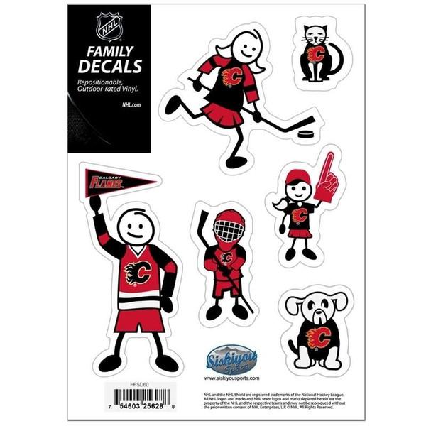 Calgary Flames Family Decal Set