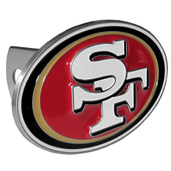 San Francisco 49ers Large Hitch Cover Class II and Class III Metal Plugs