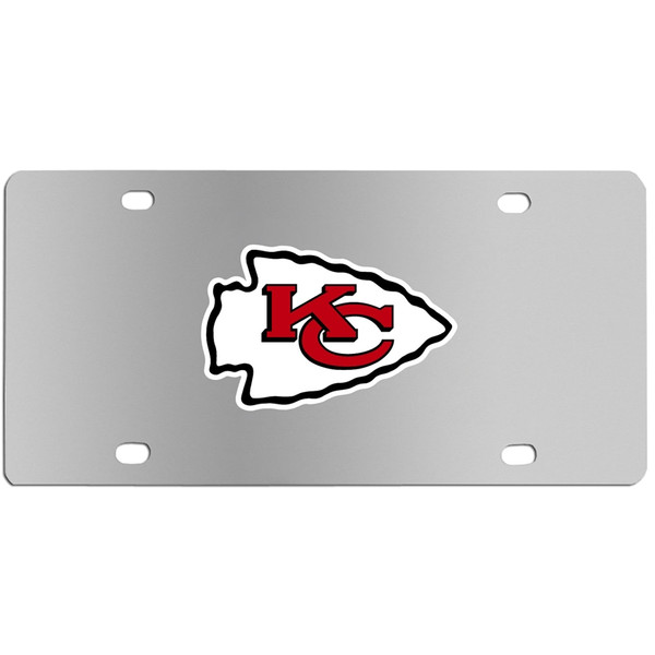 Kansas City Chiefs Steel License Plate
