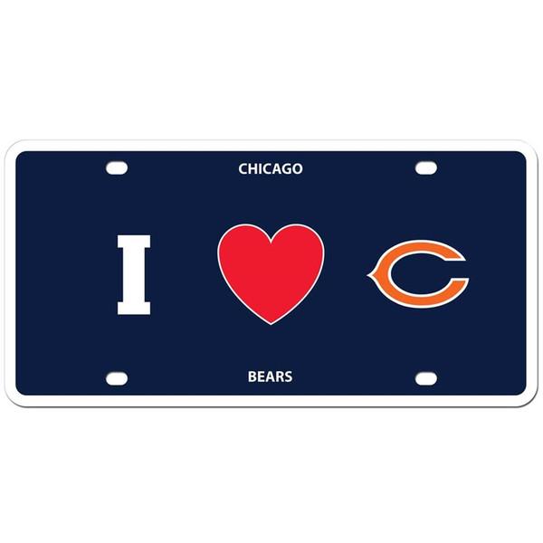 Chicago Bears Styrene License Plate