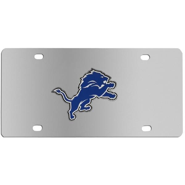 Detroit Lions Steel License Plate