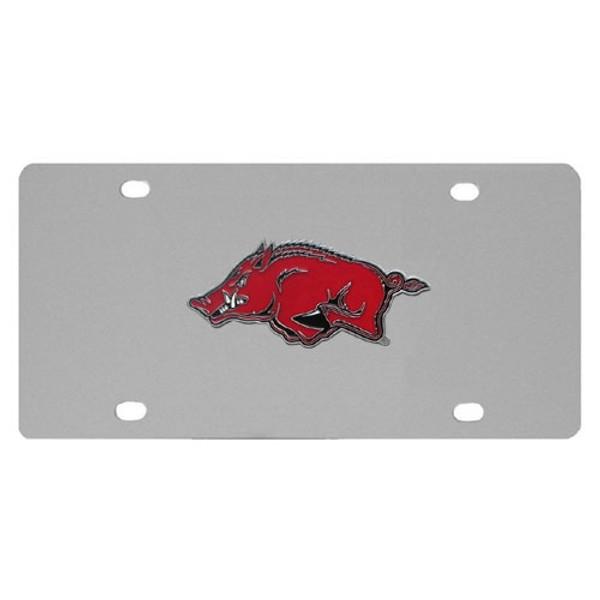 Arkansas Razorbacks Steel License Plate