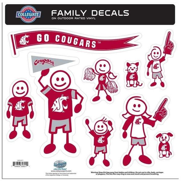 Washington St. Cougars Family Decal Set