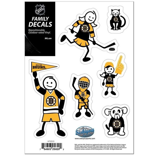Boston Bruins Family Decal Set