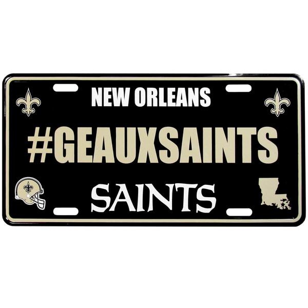 New Orleans Saints Hashtag License Plate