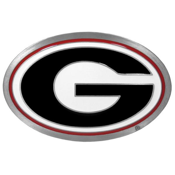 Georgia Bulldogs NCAA Hitch Cover Class II and Class III Metal Plugs