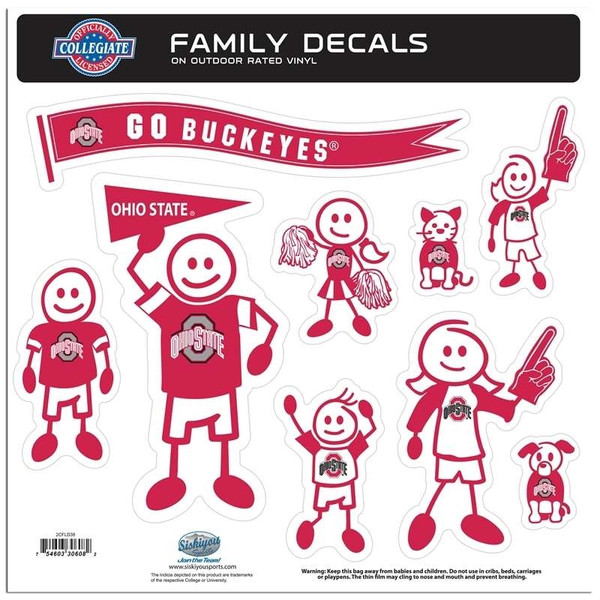Ohio St. Buckeyes Family Decal Set