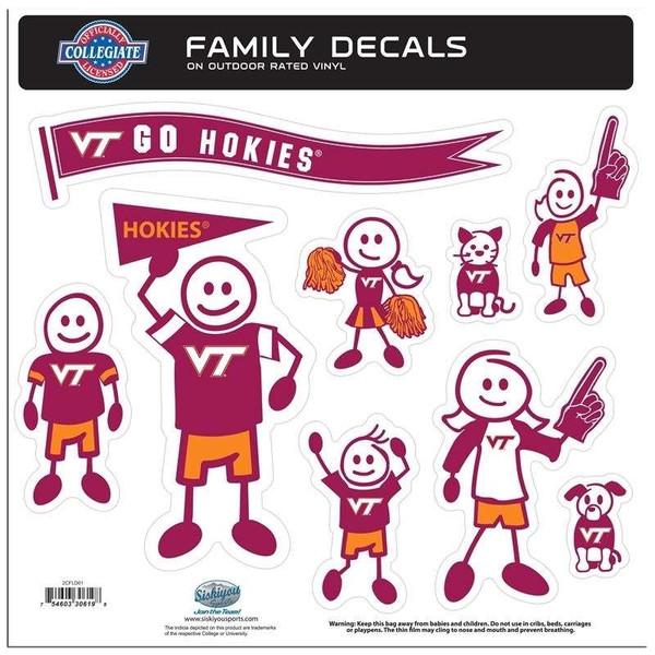 Virginia Tech Hokies Family Decal Set