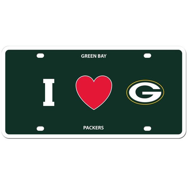 Green Bay Packers Styrene License Plate