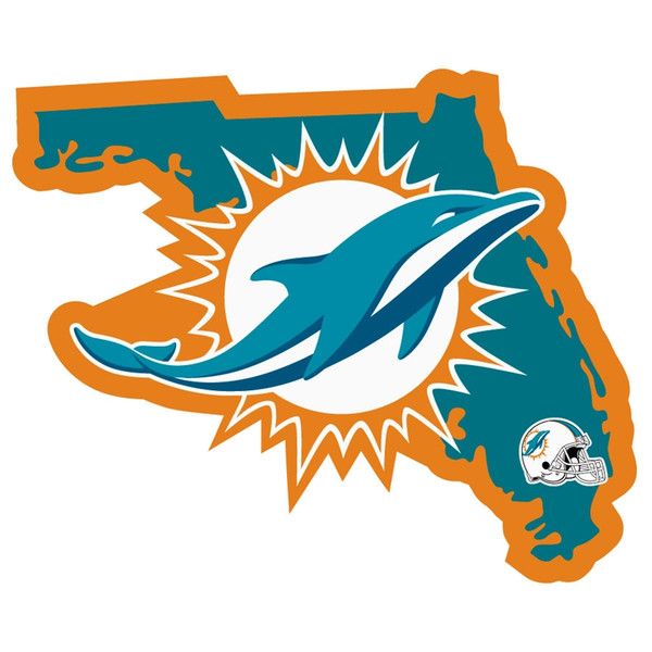 Miami Dolphins Home State Decal