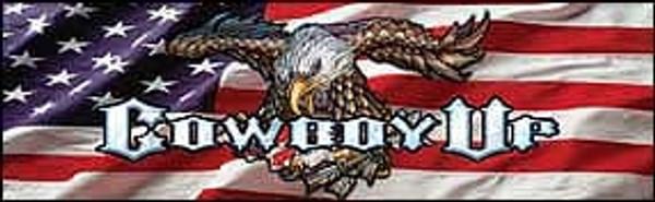 Rear Window Graphic - Cowboy Up Eagle