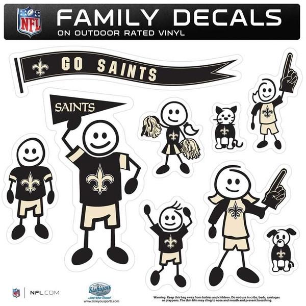 New Orleans Saints Family Decal Set