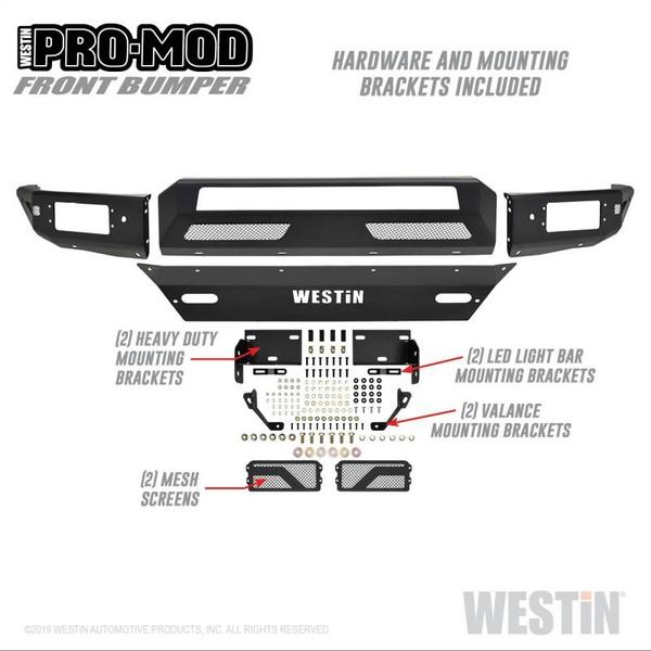 Pro-Mod Front Bumper - Light Bar Ready - Modular Construction