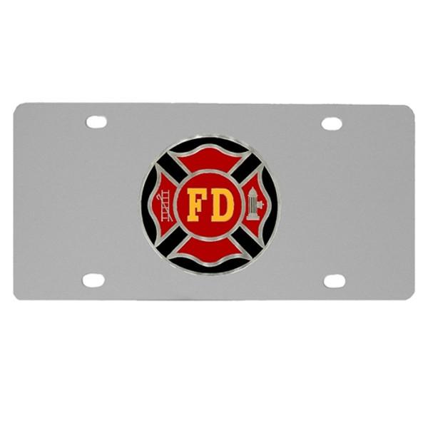 Firefigher Logo License Plate