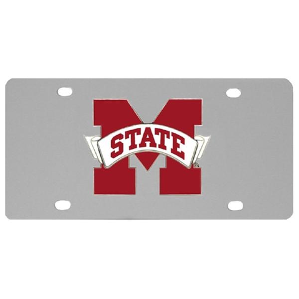 Mississippi St. Bulldogs Steel License Plate