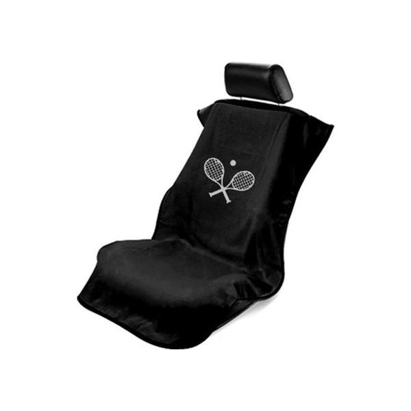 Black Tennis Racquet Seat Armour