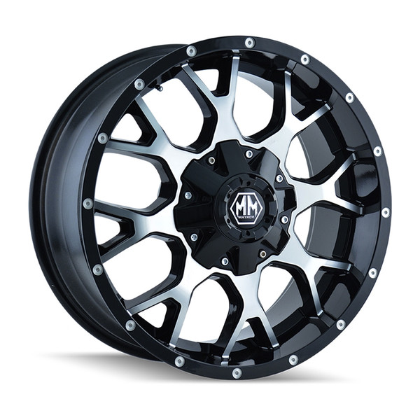 Mayhem Machined Matte Black Warrior Wheels 01