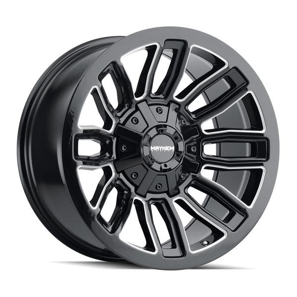 Mayhem Machined Gloss BLack Decoy Wheels 01