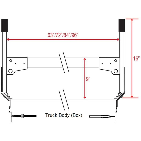 Mounts To The Outside of The Truck Box