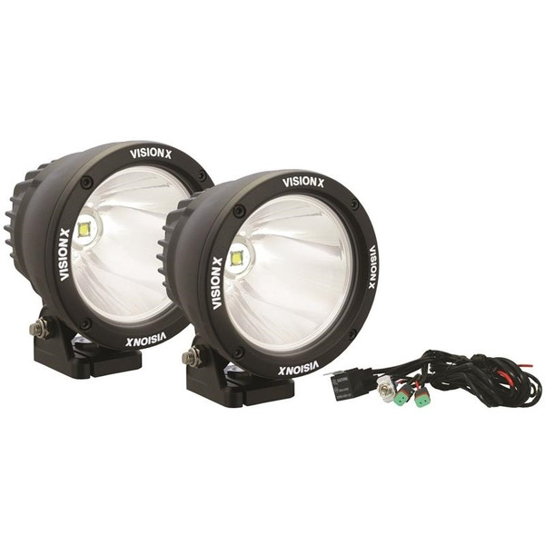 4.5in Cannon Black 1 25W Led 10 Deg. Narrow Light Kit