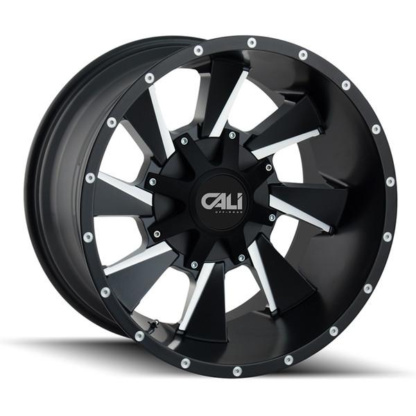 Cali Offroad Milled Matte Black Distorted Wheels 01