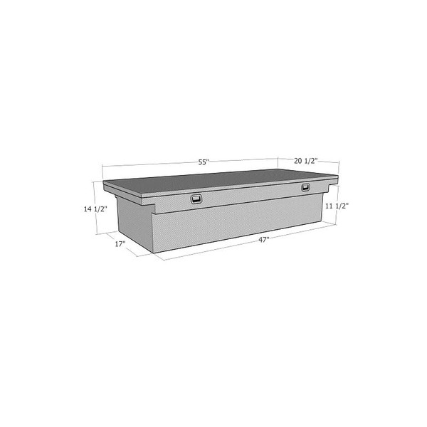 Wide Low Profile Lid Standard Crossover Box Sportside Flairside