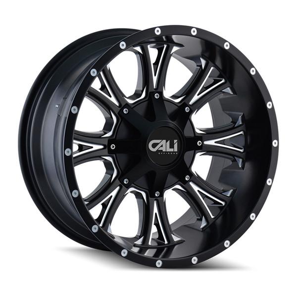Cali Offroad Milled Matte Black Americana Wheels 01