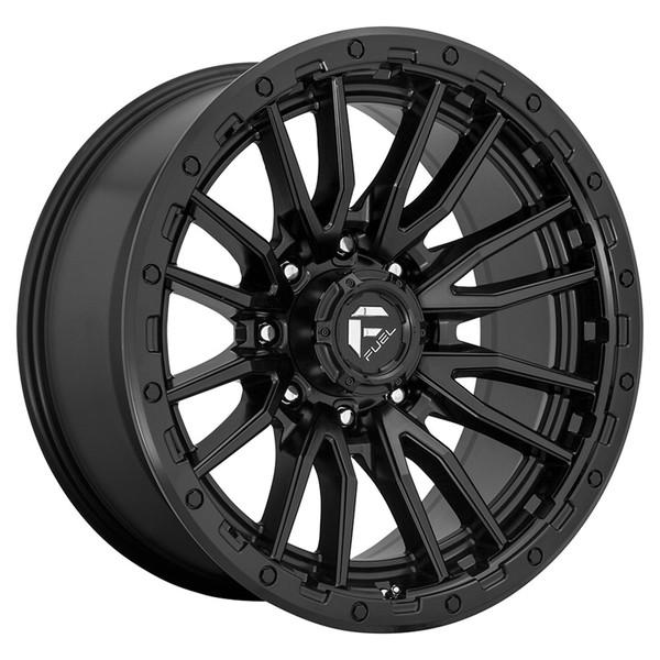 Fuel Matte Black Rebel Wheels