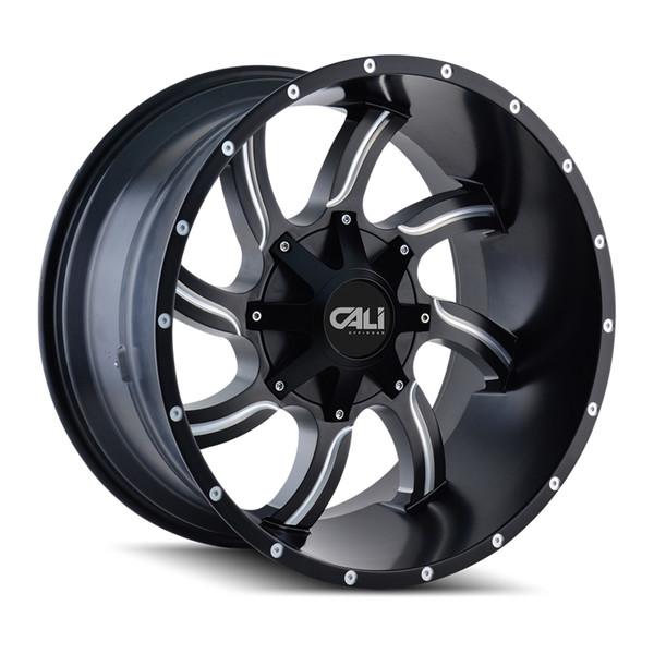 Cali Offroad Milled Matte Black Twisted Wheels 01