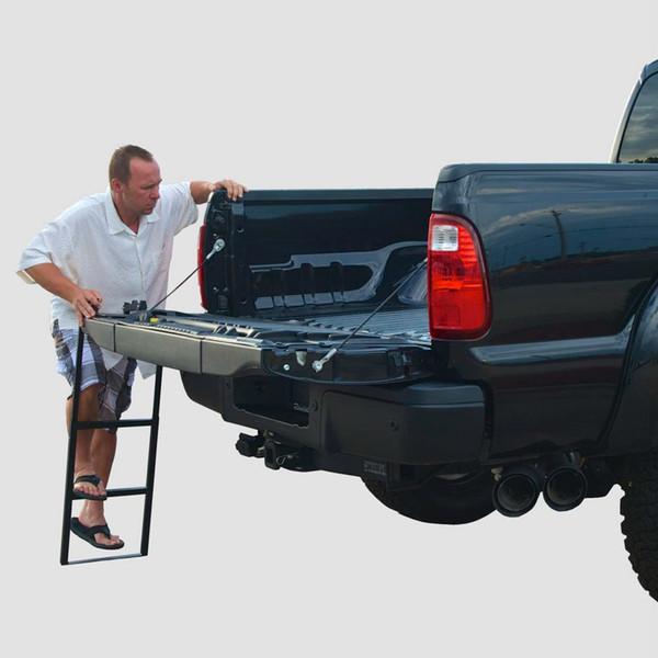 Truck Tailgate Step Ladder Open